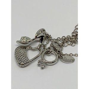 Lia Sophia Jewelry - Lia Sophia Silver Charm Shoe Bag Ring Necklace